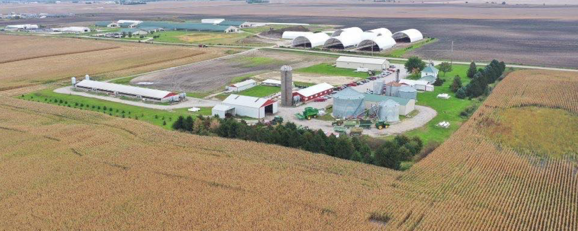 Aerial view of the Ag 450 Farm